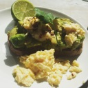 Avocado and Scrambled eggs from Bills in Muswell Hill, North London
